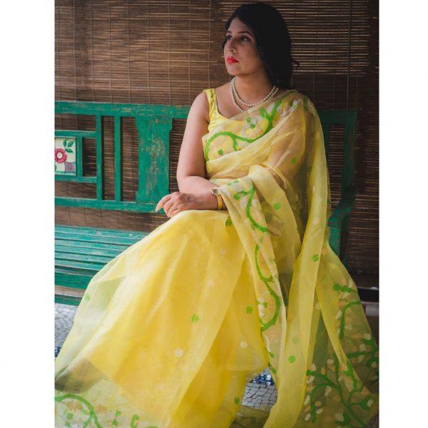 Kora Silk Jamdani