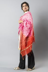 Shibori on Chanderi