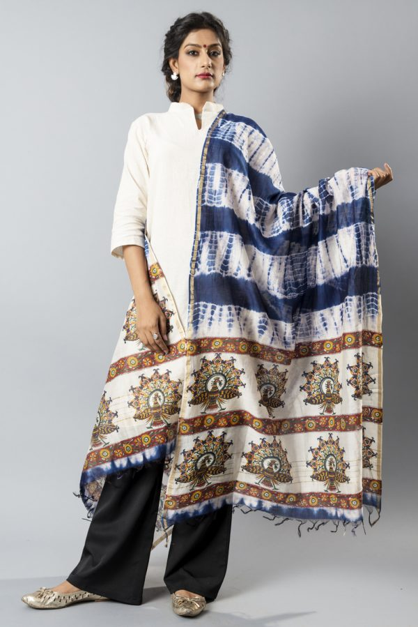 Shibori on Chanderi