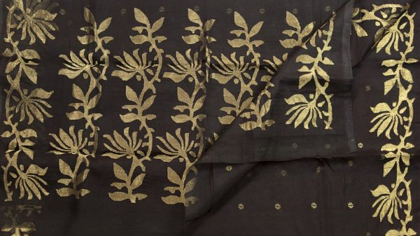 Kora Silk with Jamdani work