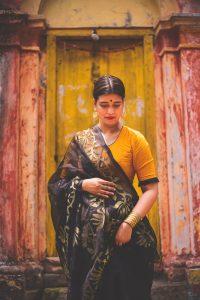 Kora Silk with Jamdani work