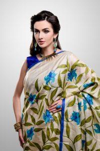 Hand-painted Silk Sari