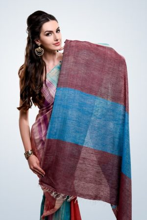 Multi-colour Silk Sari
