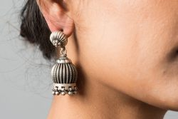 Silver Earrings rustic look