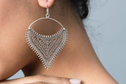 Silver Earring Jaali Work