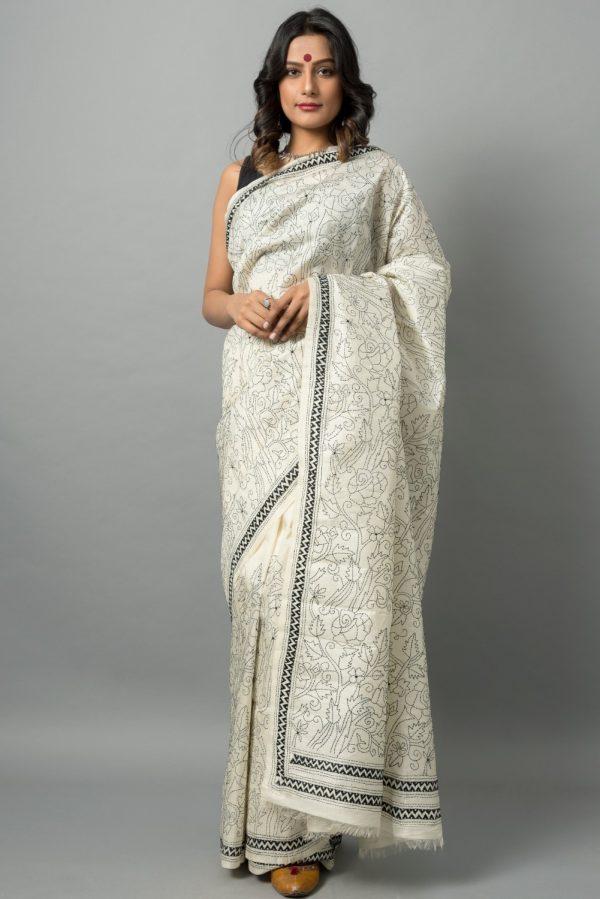 Kantha on Bishnupur silk