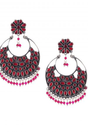 Silver Earring Chandbali