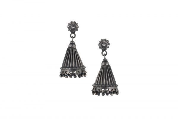 Silver Earrings Bell