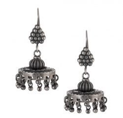 Silver earrings jhumka style