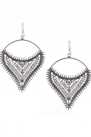 Silver Earrings Jaali
