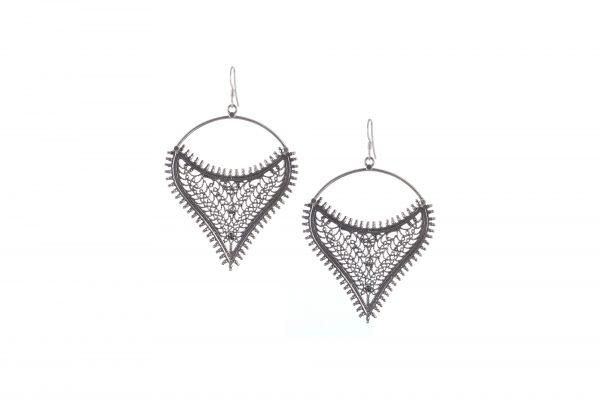 Silver Earrings Jaali