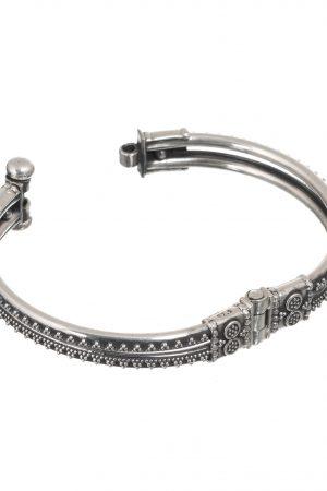 Silver bangle kadha style