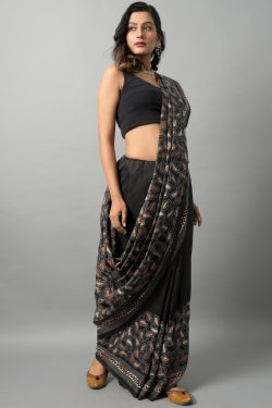 Kantha saree on bishnupur silk