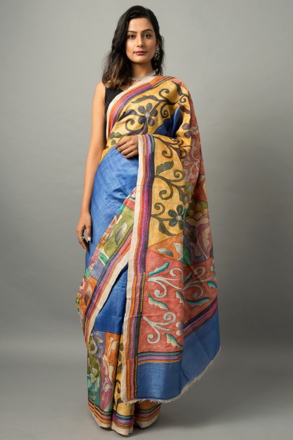 Kantha on bishnupur silk