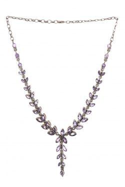 Silver necklace gemstones