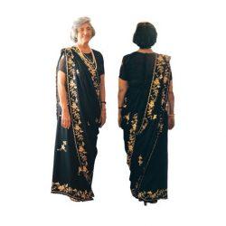 Parsi saree drape
