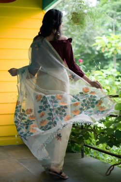 Resham silk Jamdani Kota Checks