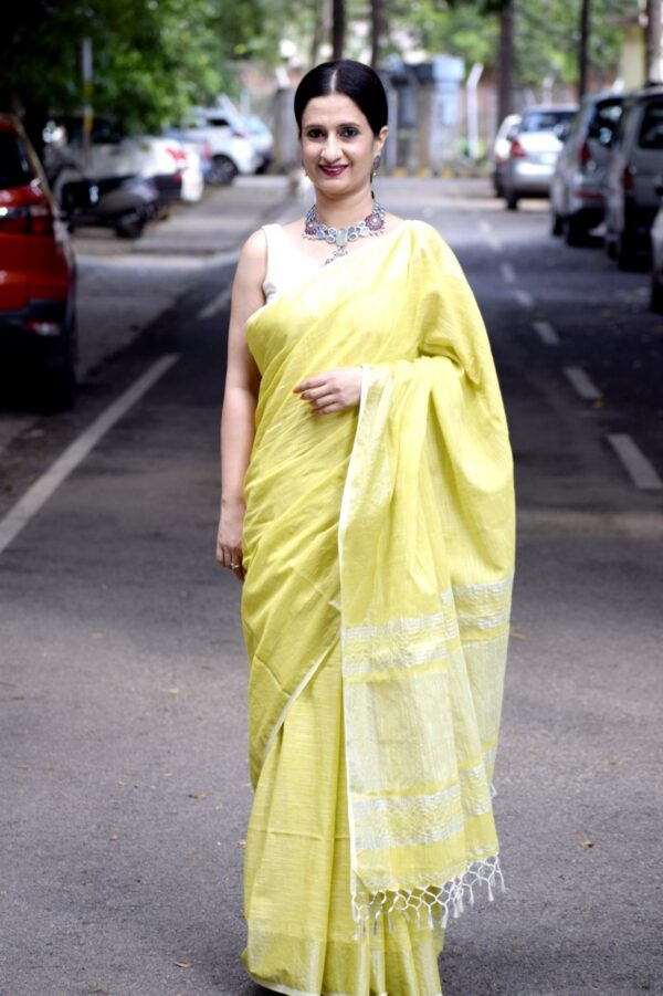 Khadi Slub Cotton Saree