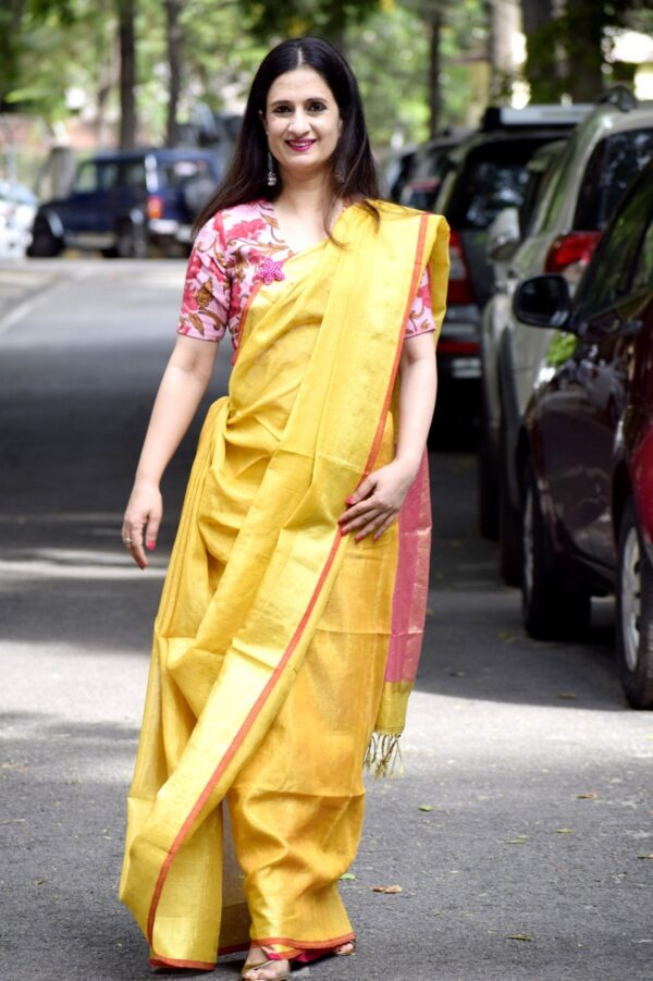 Tissue Linen Saree