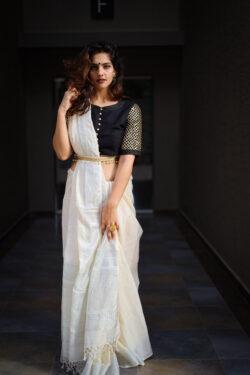 Khadi Slub Cotton Saree
