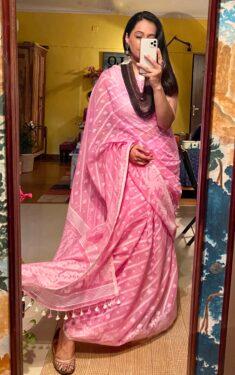 Khadi cotton with jamdani motifs