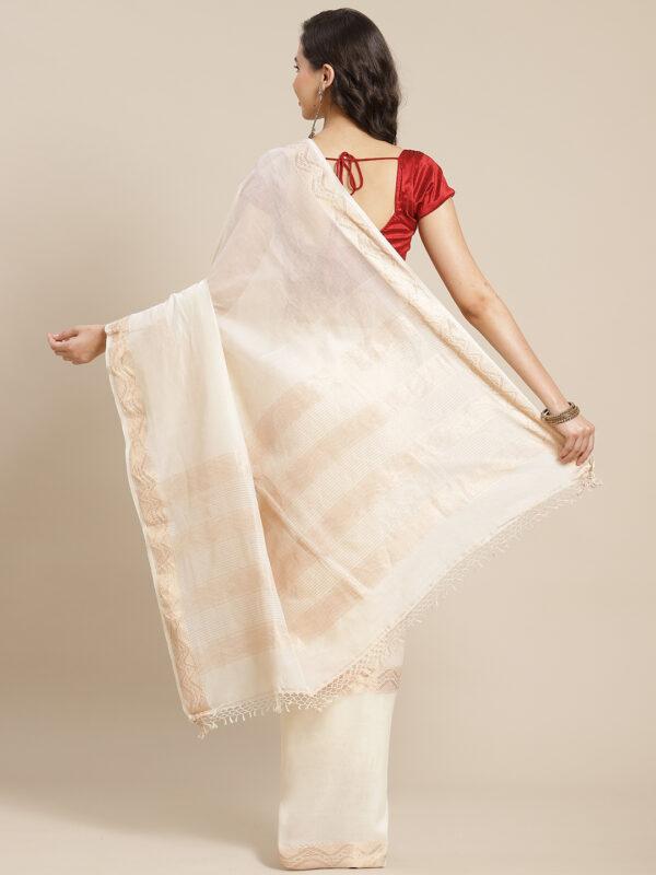 Khadi tissue cotton saree